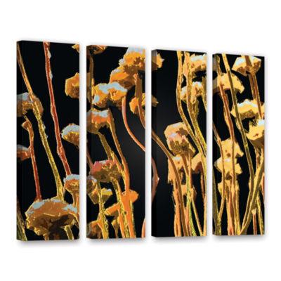 Brushstone Geo Garden Dew 4-pc. Gallery Wrapped Canvas Set