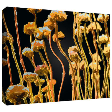 Brushstone Geo Garden Dew Gallery Wrapped Canvas