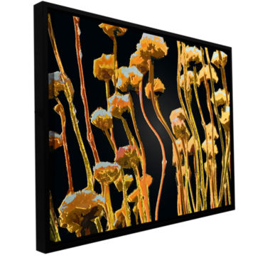 Brushstone Geo Garden Dew Gallery Wrapped Floater-Framed Canvas