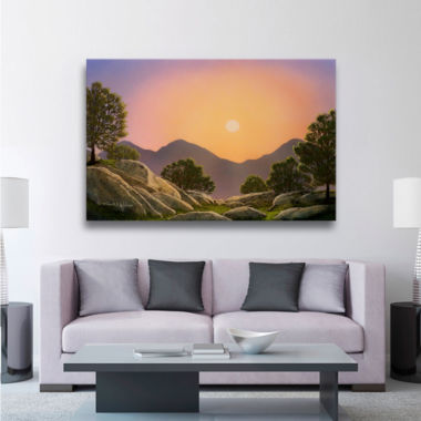 Brushstone Glowing Landscape Gallery Wrapped Canvas