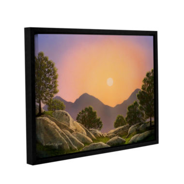 Brushstone Glowing Landscape Gallery Wrapped Floater-Framed Canvas