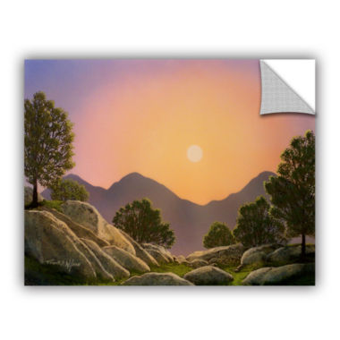 Brushstone Glowing Landscape Removable Wall Decal