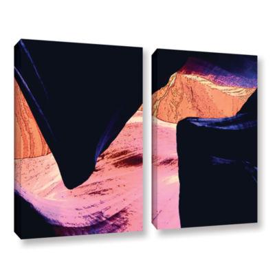 Brushstone Geometric Erosion 2-pc. Gallery WrappedCanvas Set