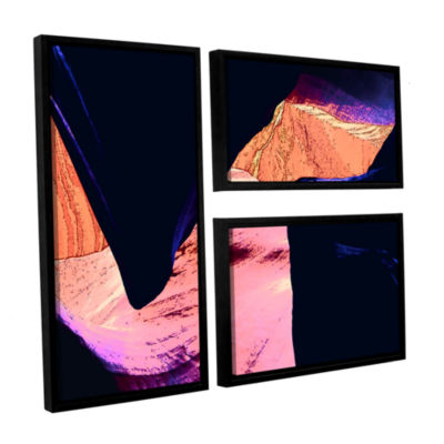 Brushstone Geometric Erosion 3-pc. Floater FramedCanvas Flag Set