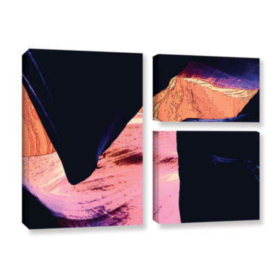 Brushstone Geometric Erosion 3-pc. Gallery WrappedCanvas Flag Set
