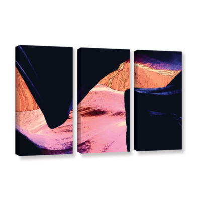 Brushstone Geometric Erosion 3-pc. Gallery WrappedCanvas Set
