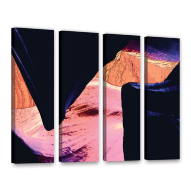 Brushstone Geometric Erosion 4-pc. Gallery WrappedCanvas Set
