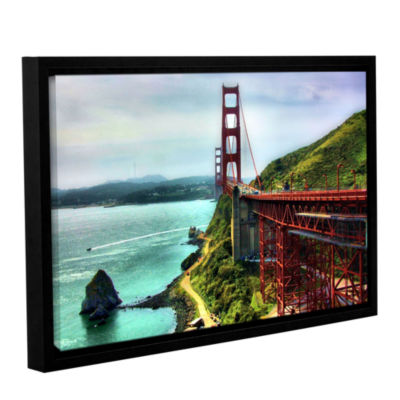 Brushstone Golden Gate Bridge Gallery Wrapped Floater-Framed Canvas