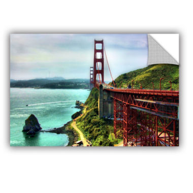 Brushstone Golden Gate Bridge Removable Wall Decal