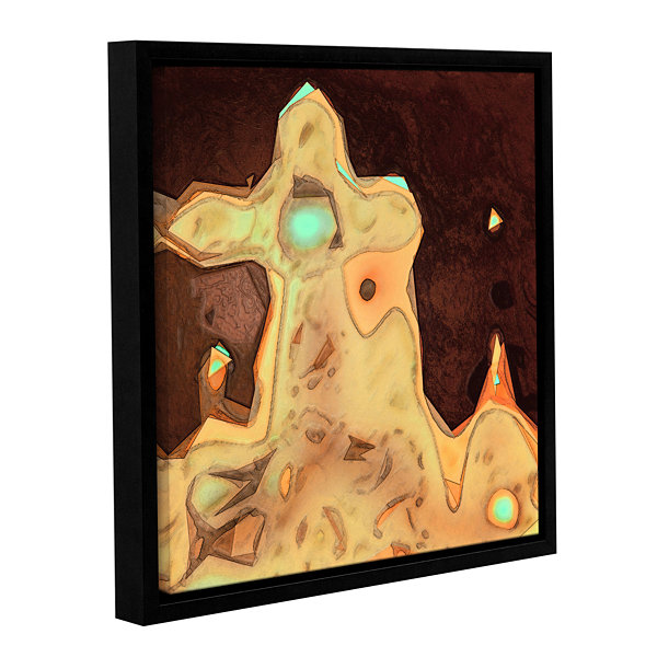 Brushstone Geo Motion Gallery Wrapped Floater-Framed Canvas