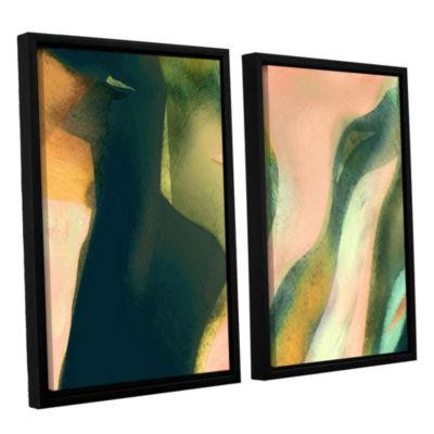 Brushstone Geometry Rising 2-pc. Floater Framed Canvas Set