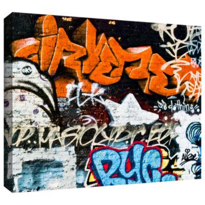 Brushstone Graff 1 Gallery Wrapped Canvas