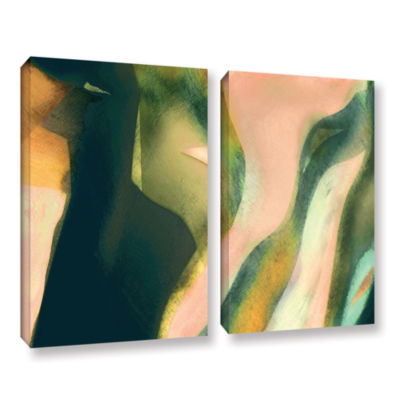 Brushstone Geometry Rising 2-pc. Gallery Wrapped Canvas Set