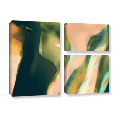 Brushstone Geometry Rising 3-pc. Gallery Wrapped Canvas Flag Set