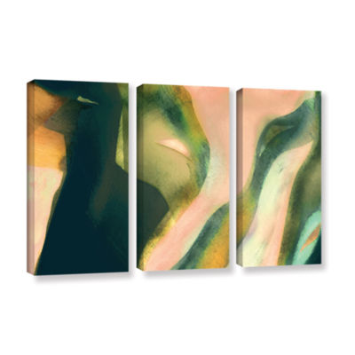 Brushstone Geometry Rising 3-pc. Gallery Wrapped Canvas Set