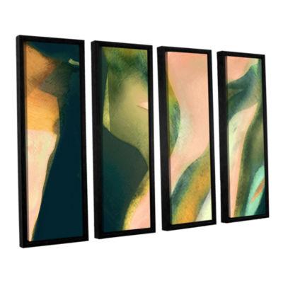 Brushstone Geometry Rising 4-pc. Floater Framed Canvas Set