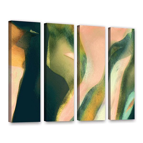 Brushstone Geometry Rising 4-pc. Gallery Wrapped Canvas Set