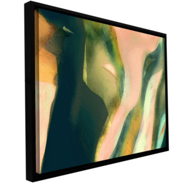 Brushstone Geometry Rising Gallery Wrapped Floater-Framed Canvas