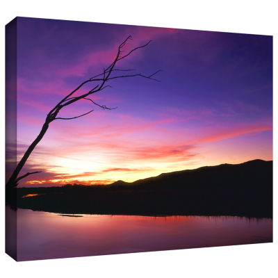 Brushstone Gila River Sunset Gallery Wrapped Canvas