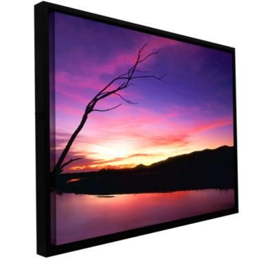 Brushstone Gila River Sunset Gallery Wrapped Floater-Framed Canvas