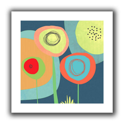 Brushstone Garden Circles Canvas Wall Art