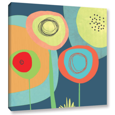 Brushstone Garden Circles Gallery Wrapped Canvas