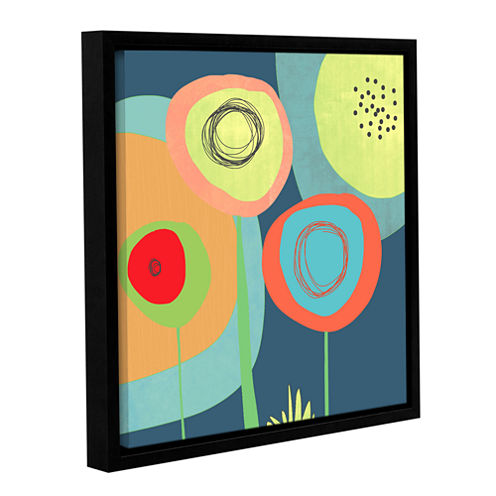 Brushstone Garden Circles Gallery Wrapped Floater-Framed Canvas Wall Art