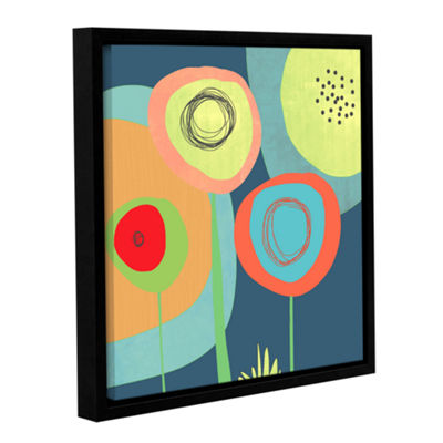 Brushstone Garden Circles Gallery Wrapped Floater-Framed Canvas