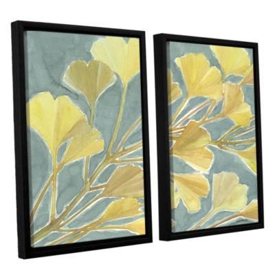 Brushstone Gorgeous Ginko 2-pc. Floater Framed Canvas Set