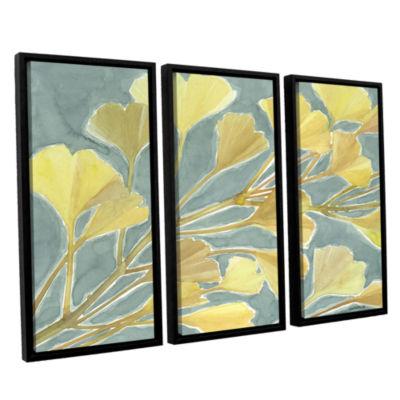 Brushstone Gorgeous Ginko 3-pc. Floater Framed Canvas Set