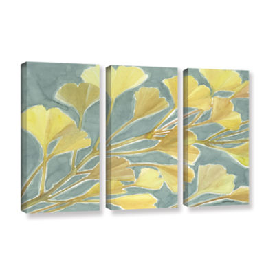 Brushstone Gorgeous Ginko 3-pc. Gallery Wrapped Canvas Set