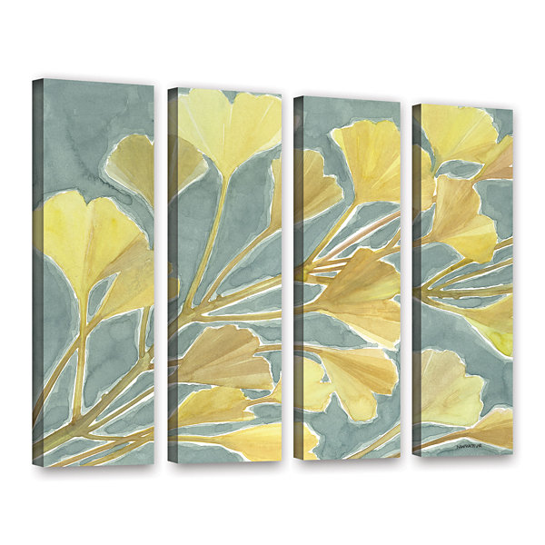 Brushstone Gorgeous Ginko 4-pc. Gallery Wrapped Canvas Set