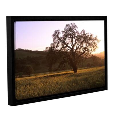 Brushstone Golden Hour Gallery Wrapped Floater-Framed Canvas