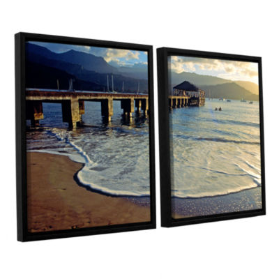 Brushstone Glimpse 2-pc. Floater Framed Canvas Set