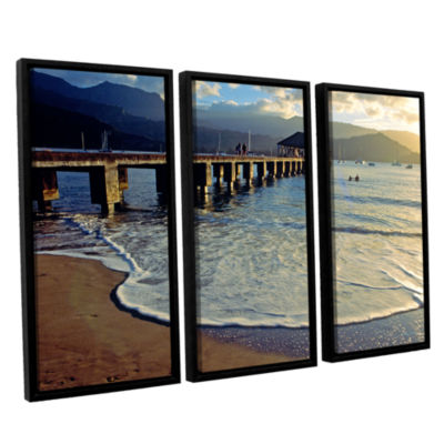 Brushstone Glimpse 3-pc. Floater Framed Canvas Set