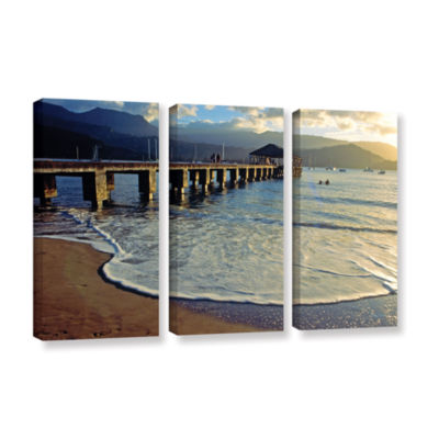 Brushstone Glimpse 3-pc. Gallery Wrapped Canvas Set