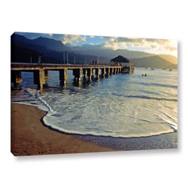 Brushstone Glimpse Gallery Wrapped Canvas