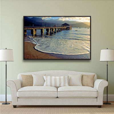 Brushstone Glimpse Gallery Wrapped Floater-FramedCanvas