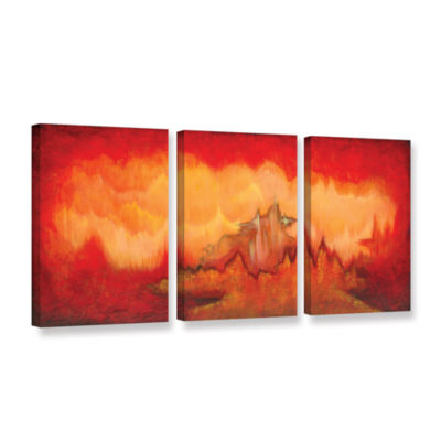 Brushstone From The Valley 3-pc. Gallery Wrapped Canvas Set