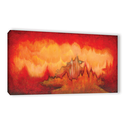 Brushstone From The Valley Gallery Wrapped CanvasWall Art