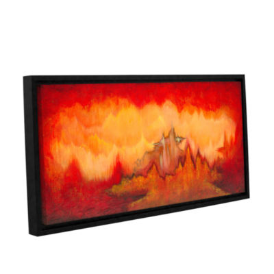 Brushstone From The Valley Gallery Wrapped Floater-Framed Canvas