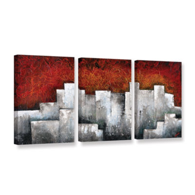 Brushstone Ghost City 3-pc. Gallery Wrapped CanvasSet