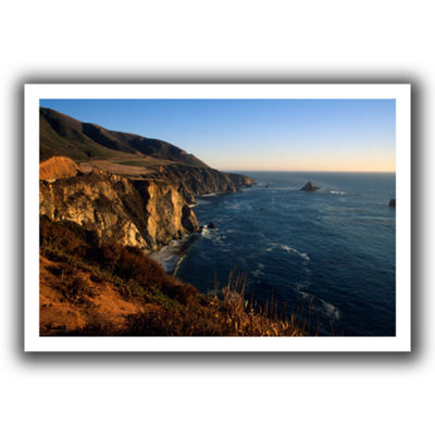 Brushstone Golden Glow on Big Sur' Canvas Wall Art