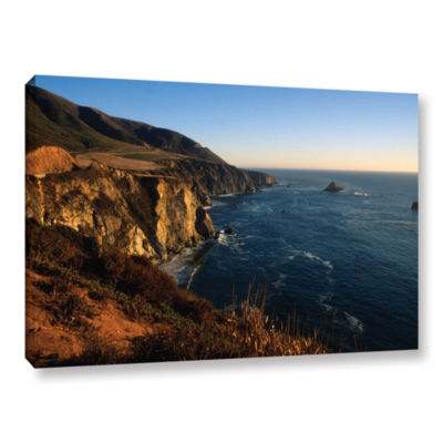 Brushstone Golden Glow on Big Sur' Gallery WrappedCanvas