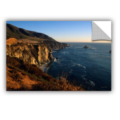 Brushstone Golden Glow on Big Sur' Removable WallDecal