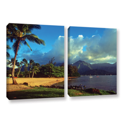 Brushstone Golden Light on Hanalei 2-pc. Gallery Wrapped Canvas Set