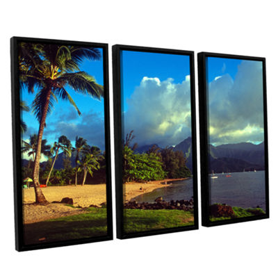 Brushstone Golden Light on Hanalei 3-pc. Floater Framed Canvas Set