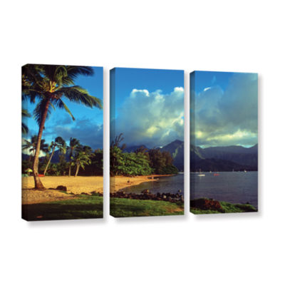 Brushstone Golden Light on Hanalei 3-pc. Gallery Wrapped Canvas Set