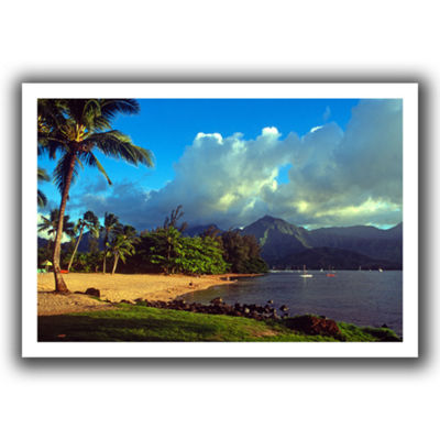 Brushstone Golden Light on Hanalei Canvas Wall Art