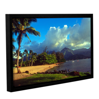 Brushstone Golden Light on Hanalei Gallery WrappedFloater-Framed Canvas